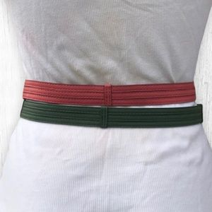 Pink and Green Skinny Belts